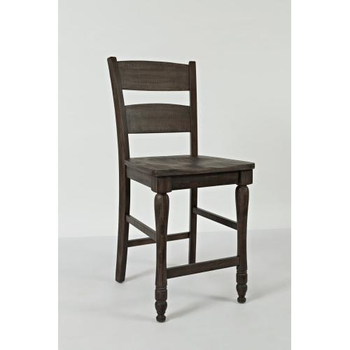 Madison County Ladderback Counter Stool - Barnwood