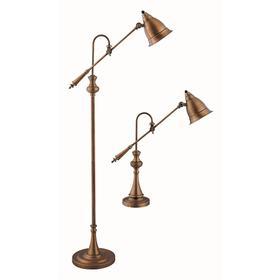 Watson Adjustable Pharmacy Lamps (set of 1 Floor and 1 Table Lamp)