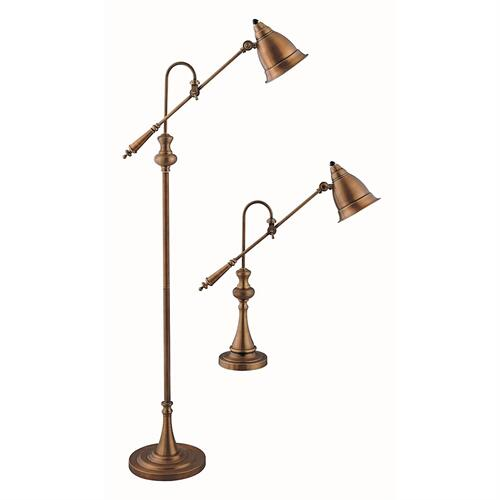 Gallery - Watson Adjustable Pharmacy Lamps (set of 1 Floor and 1 Table Lamp)