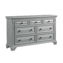 Calloway 7-Drawer Dresser in Grey
