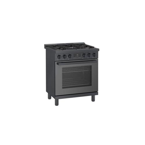 800 Series Gas Freestanding Range 30'' Black stainless steel HGS8045UC