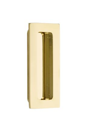 "Flush Pull - Modern Rectangular Brass 4"" Product Image"