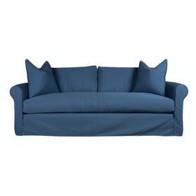 Roll Arm, Standard Depth, Bench Seat, Slipcover Sofa.