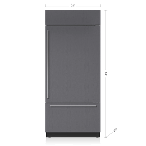 """Subzero36"""" Classic Over-and-Under Refrigerator/Freezer with Internal Dispenser - Panel Ready"""