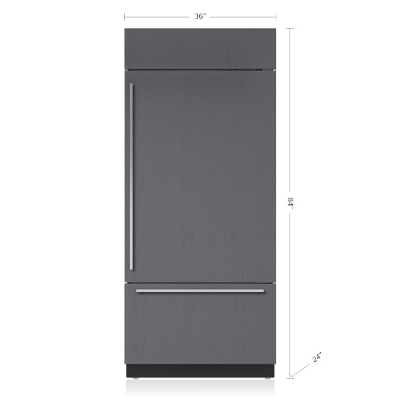 """36"""" Classic Over-and-Under Refrigerator/Freezer with Internal Dispenser - Panel Ready"""