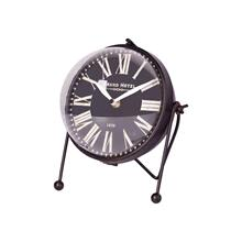 Caledonia Black Metal Glass Spherical Table Clock