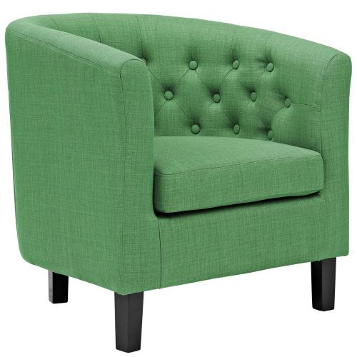 Prospect Upholstered Fabric Armchair in Kelly Green