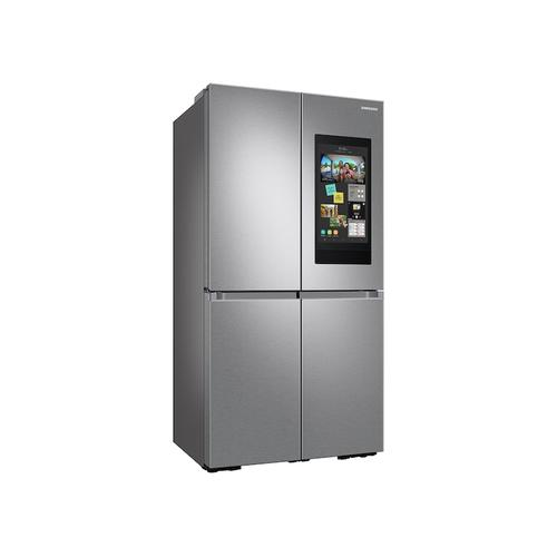 Samsung - 23 cu. ft. Smart Counter Depth 4-Door Flex™ refrigerator with Family Hub™ and Beverage Center in Stainless Steel