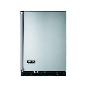 "Stainless Steel 24"" Beverage Center with Ice Maker - VURI (Right Hinge Door)"