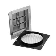 """See Details - Wall Vent for 10"""" Round Duct with Bird Screen, Louvered"""