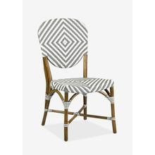 Hamlet Indoor-Outdoor Bistro Chair, Grey/White (2 pcs per box, priced per piece)