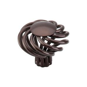 Top Knobs - Round Large Twist Knob 1 1/2 Inch Oil Rubbed Bronze