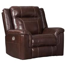 Power Leather Recliner with Adjustable Headrest
