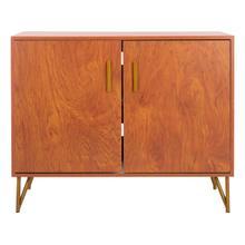 See Details - Pine 2 Door Modular TV Unit - Natural / Gold