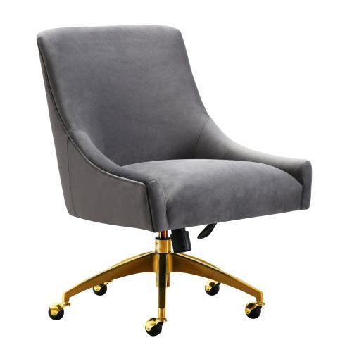 Tov Furniture - Beatrix Grey Office Swivel Chair