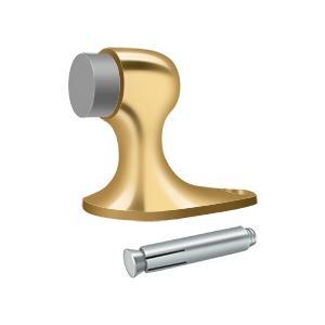 """Floor Door Bumper 2-1/8"""", Solid Brass - PVD Polished Brass"""