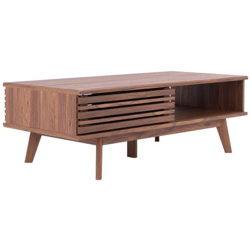Safavieh - Rori 1 Shelf Coffee Table - Walnut