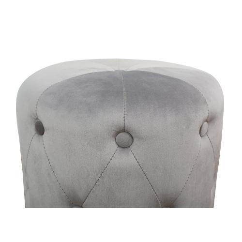 Tov Furniture - Skylar Grey Velvet Ottoman