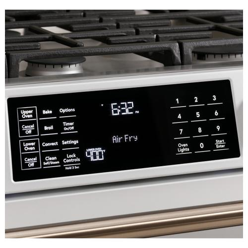 """Cafe - Café™ 30"""" Smart Slide-In, Front-Control, Gas Double-Oven Range with Convection"""