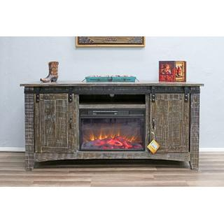 See Details - Barn Wood Fireplace