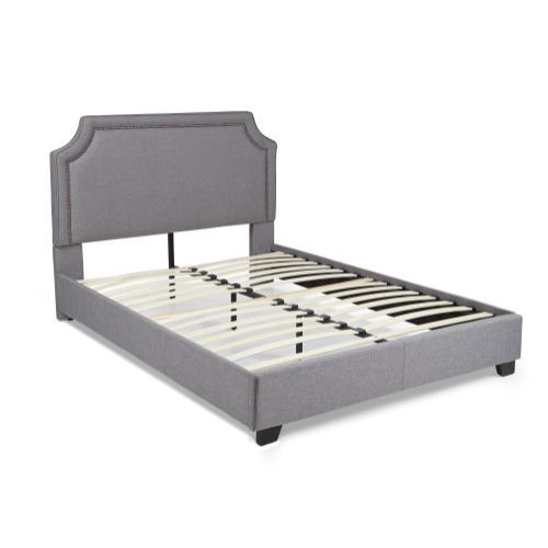 Brantford Platform Bed - King, Grey