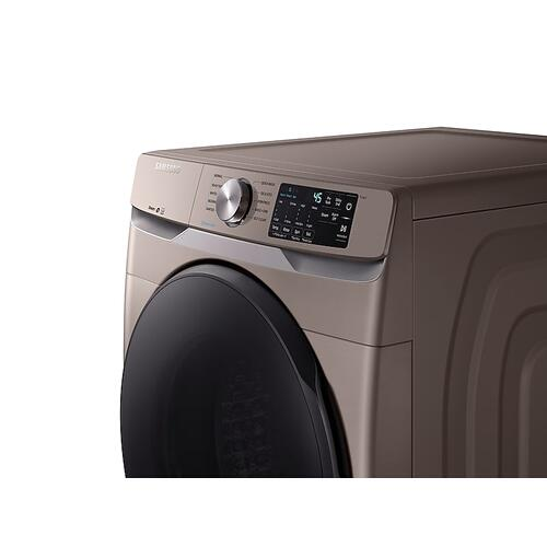Samsung - 4.5 cu. ft. Front Load Washer with Steam in Champagne