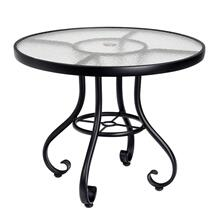 """See Details - Ramsgate 48"""" Umbrella Table - Obscure Glass"""