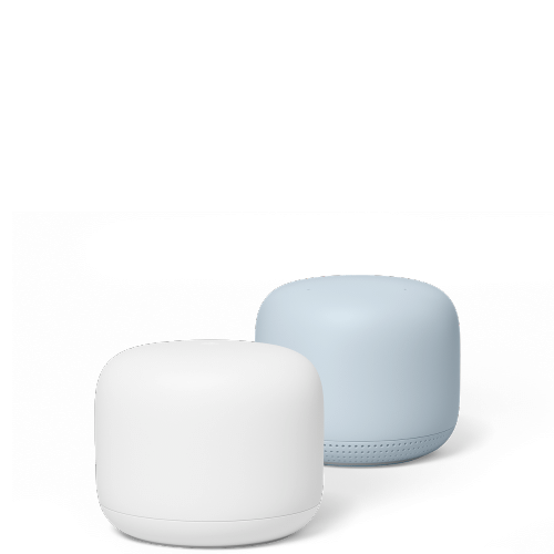 Nest - Google Nest Wifi Router Snow Point Mist Up To 3800 Square Feet.