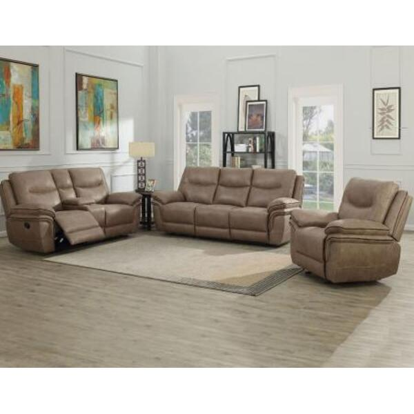 Isabella Sand 3 Piece Motion Set (Sofa, Loveseat & Chair)