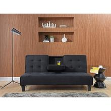 7501 BLACK Dacron Futon Sofa Bed