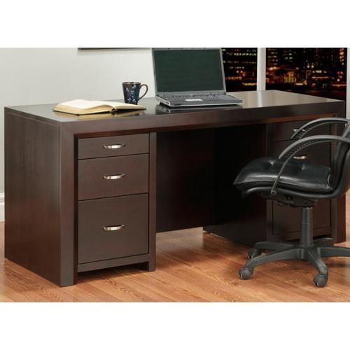 Handstone - Contempo Executive Desk w/Letter File Drawers