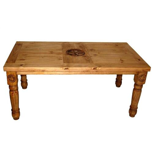 8' Table W/star On Top & Leg