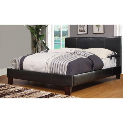 """Volt 60"""" Queen Platform Bed in Brown"""