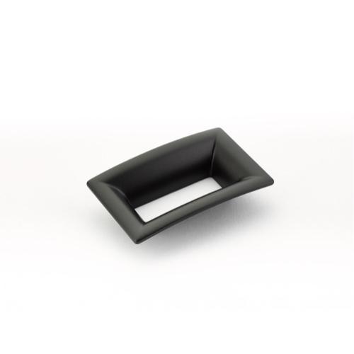 Finestrino, Pull, Flared Rectangle, Matte Black, 64 mm cc
