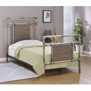 Elkton Bed - Twin, Antique Brass Finish Product Image