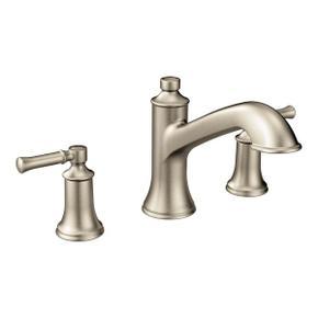 Dartmoor brushed nickel two-handle roman tub faucet