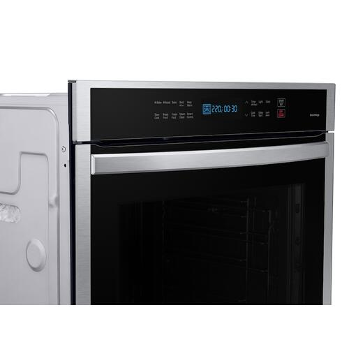 "24"" 3.1 cu. ft. Single Electric Wall Oven with Convection and Wi-Fi in Stainless Steel"