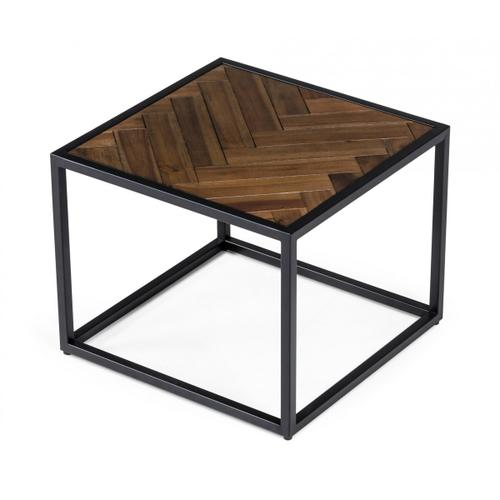 Modrest Pasada - Industrial Brown Acacia End Table