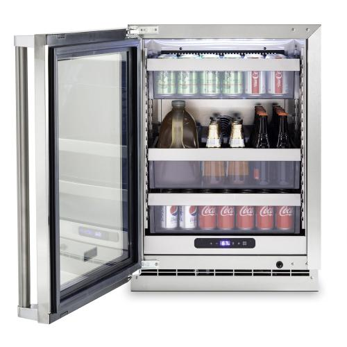 "24""W. Stainless Steel Interior Undercounter Refrigeration - VURE Viking Professional Product Line"