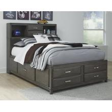 Caitbrook Full Storage Bed With 7 Drawers Gray