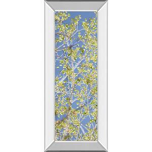 """Classy Art - """"Spring Poplars I"""" By Sharon Chandler Mirror Framed Print Wall Art"""