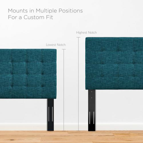 Modway - Paisley Tufted Full / Queen Upholstered Linen Fabric Headboard in Teal
