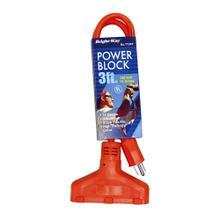 See Details - 14/3 3 ft. Orange Round Power Block