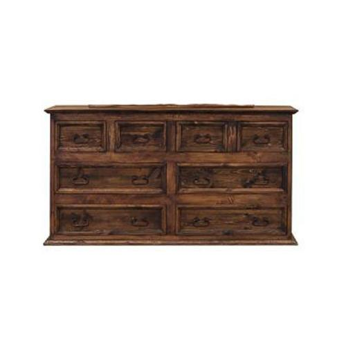 """L.M.T. Rustic and Western Imports - 65"""" Dresser 8-Drawers Medio Finish"""