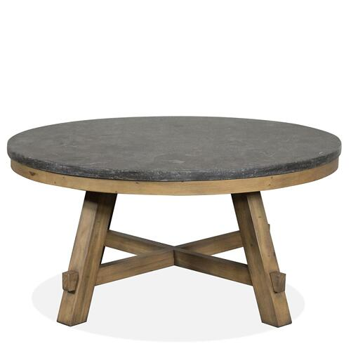 Riverside - Weatherford - Round Coffee Table Top - Bluestone Finish