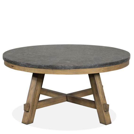Riverside - Weatherford - Round Coffee Table Base - Bluestone Finish