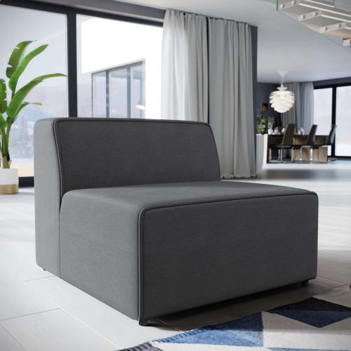 Modway - Mingle Fabric Armless in Gray