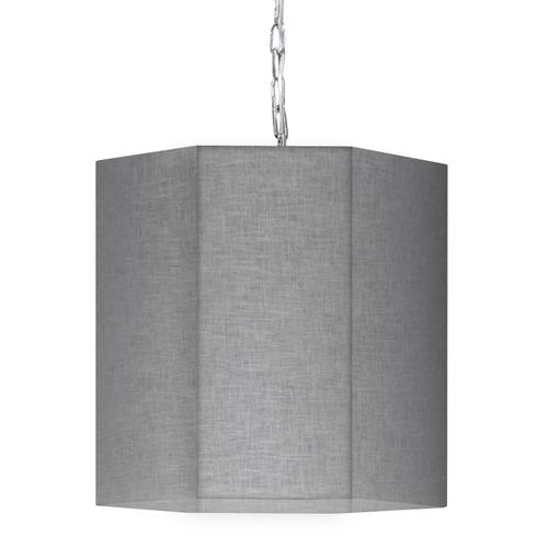 Product Image - 1lt Pendant, PC W/ Gry/clr Shade