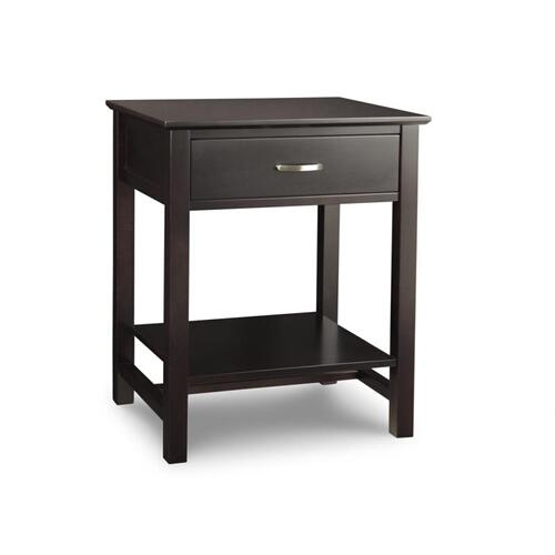 - Brooklyn 1 Drawer Open Night Stand w/Power Management