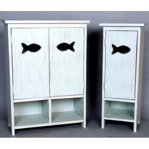 "#480 1 Door Fish Cabinet 12""wx11""dx33""h"